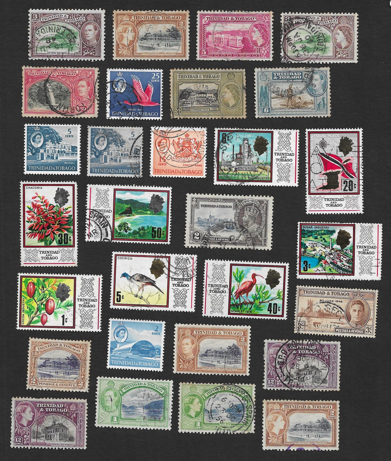 Trinidad & Tobago 1935 mint & used collection – 29 stamps